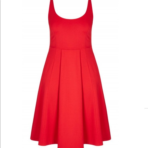 City Chic red viscose plus size holiday red dress